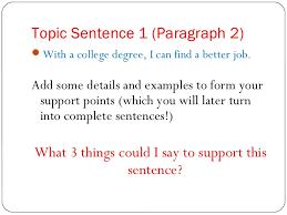 the essay roadmap topic