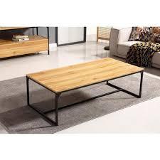 Tisch Aus Holz Und Metall 120x60x37 Cm