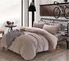 elegant duvet bedding sets zebra striated flano velour duvet cover setthickened winter full