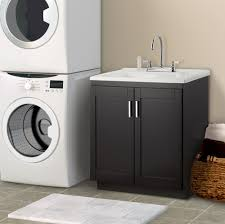 image of laundry utility sink with cabinet