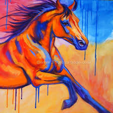 large colorful horse painting equine art by theresa paden painting by artist theresa paden