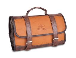 rustic leather toiletry bags