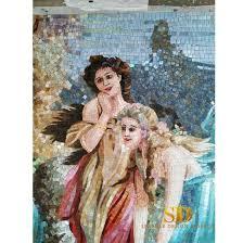 china glass bead mosaic art