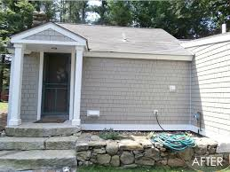 exterior homescapes. brookline, nh - james hardie hardieshingle in cobblestone rustic-exterior exterior homescapes d