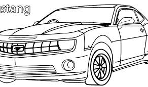 Ford Mustang Coloring Pictures Thaipartyforme