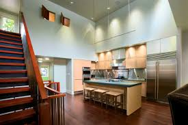 Home Lighting, Astonishing Modern Track Lighting In Kitchen For High Ceiling  And Hanging Style For