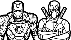 Small Picture Iron Man and Deadpool Coloring Book Coloring Pages Kids Fun Art