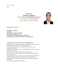 Gallery Of Ahmad Hashem Cv Covering Letter Sample Cv Covering