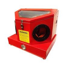 Abrasive Blasting Cabinet Mini Compact Sand Blaster Cabinet 80psi 7cfm Hands Free Foot Pedal