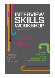 Interview Workshop Program Interview Skills Workshop Athol Public Library 1