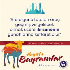 """Hayrât Vakfı on Twitter: """"Arefe günü oruç tutmak hakkında...… """""""