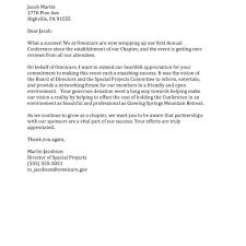100 Sponsorship Thank You Letter Template Example Sponsor