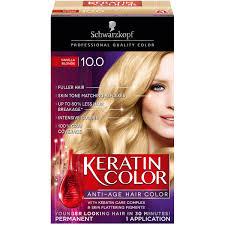 Schwarzkopf Keratin Color Anti Age Hair Color Cream 10 0