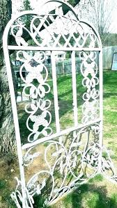 wrought iron garden trellis decor vintage antique panels fence uk g