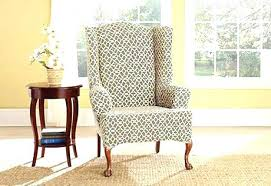 surefit chair slipcovers sure fit wing transitional living room