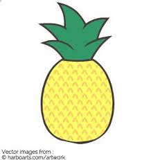 cute pineapple. cute pineapple drawing - vector graphic a