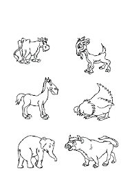 coloring pages animals pictures farm page colouring sheets savanna free printable of african
