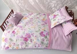 Doll purple <b>6</b> pcs floral bedding set Barbie Monster high   Etsy