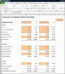common size balance sheet calculator v 1 0