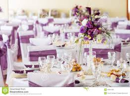 Wedding Table Decoration With Flowers Royalty Free Stock Images