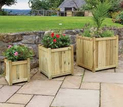 Holywell Wooden Planters Set of Three