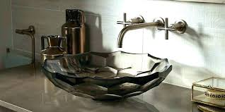 whist sink glass vessel doe kohler spun bathroom in dew k whist glass bathroom sink kohler