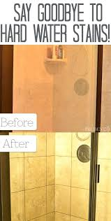 hard water stains on shower doors how to get hard water stains off shower glass doors
