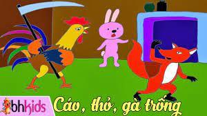Kể Truyện Cổ Tích - Cáo Thỏ Và Gà Trống [Full HD] | Truyện cổ tích, Gà  trống, Thỏ