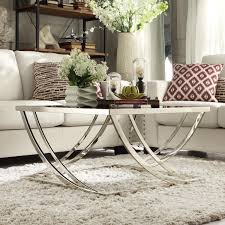Anson Steel Brushed Arch Curved Sculptural Modern Coffee Table by iNSPIRE Q  Bold by iNSPIRE Q