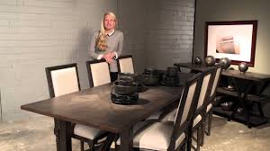 wood dining table concrete dark wood dining table by brownstone furniture with white parson dinin