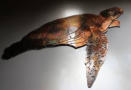 aquatic sea turtle metal decor copper bronze plated larger photo on large metal sea turtle wall art with turtle turtle metal art wall turtle sea turtle