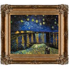 starry night over the rhone by vincent van gogh framed painting print