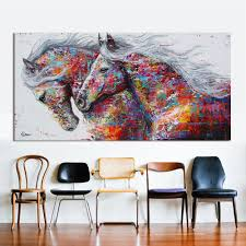 hdartisan animal wall art pictures for living room home decor canvas painting the two running horse no on wall art canvas for living room with hdartisan animal wall art pictures for living room home decor canvas