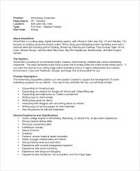 sample advertising copywriter job description in pdf copywriter job description