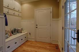 Crown Molding Coat Rack Country Mud Room With High Ceiling Hardwood Floors In Knoxville 67