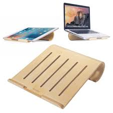 samdi small wooden desktop holder stand for macbook ipad pro birch