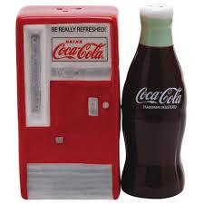 Coca Cola Polar Bear In Bottle Vending Machine Interesting CocaCola Vending Machine And Bottle Ceramic Salt N Pepper Set 48