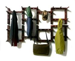 Hang Coat Rack Thrublock WOODEN COAT RACK 100 piece stacked fiels pattern 31