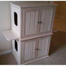 cat litter box furniture diy. modren cat stacked double cat litter box cabinet with odor absorbing light on furniture diy
