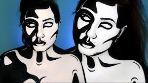 black white graphic pop art makeup tutorial