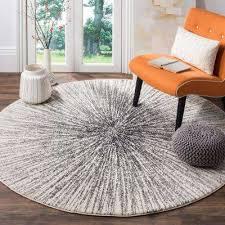 round area rug evoke black ivory 7 ft x 7 ft round area rug