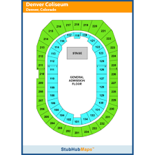 Denver Coliseum Seating Chart Rodeo The Denver Coliseum Events And Concerts In Denver The