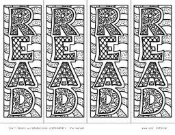 Bookmark Coloring Pages Reading Bookmarks To Color Free