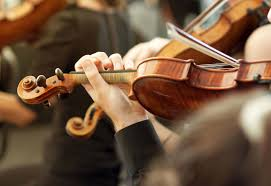 Classical Photo Member Of Classical Music Orchestra Playing Violin On A