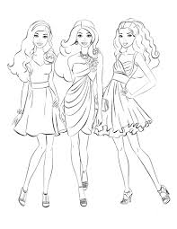 Barbie Coloring In Valid Barbie Coloring Pages Free Printable