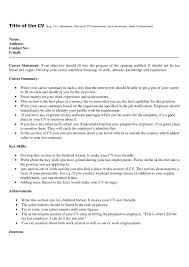 Examples Of Good Resumes With No Work Experience Sample Resume How