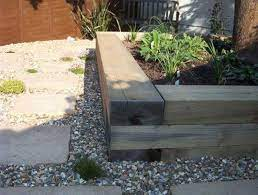 to build a raised bed with railway sleepers