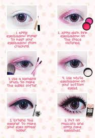 tutorial winged doll eye anese makeup inspiration gyaru doll eyes previousnext