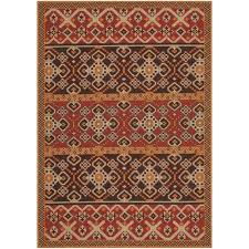 safavieh veranda red indoor outdoor rug 5 3 x 7 7 only