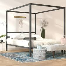 Canopy For Canopy Bed Zinus Metal Frame Canopy Four Poster Platform ...